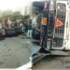 Cement mixer overturned at powai