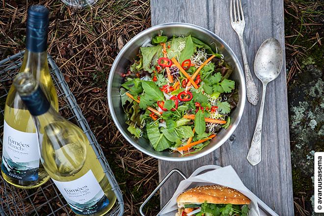 Vappu piknik - riisinuudeli-salaatti, © avaruusasema.com