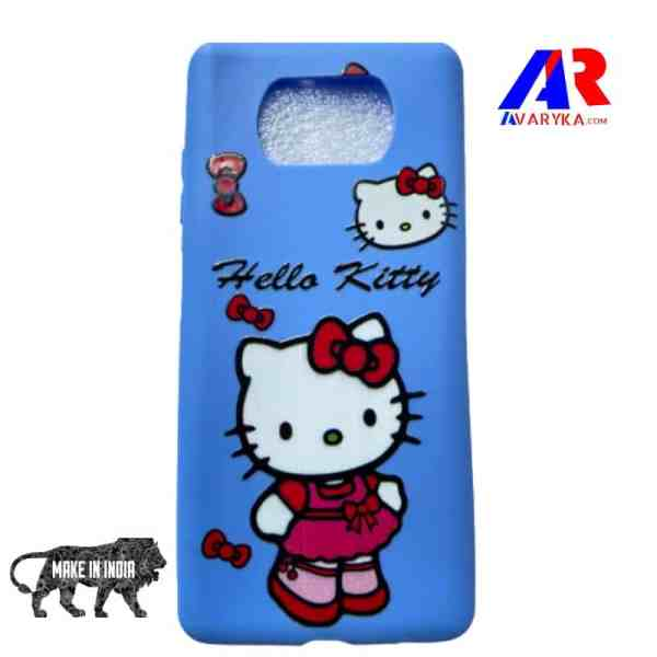 Poco X3 Back Cover - Buy Poco X3 Cover and Cases Online India - Premium High Quality Back Cover - Hello Kitty Back Cover