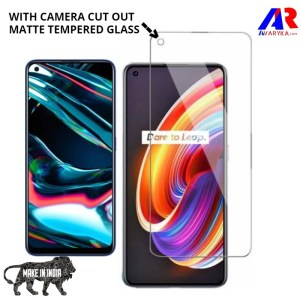 Realme 7 Pro Matte Tempered Glass Screen Protector with Camera Cut Out || Premium high quality Matte Tempered Glass for Realme 8 Pro Gaming Edition