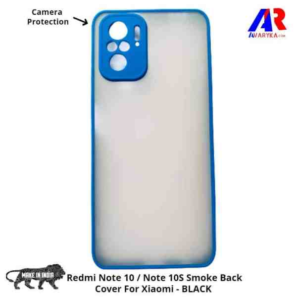 Redmi Note 10 / Note 10S Smoke Back Cover For Xiaomi (Blue Colour)- Buy Redmi Note 10 / Note 10S Back Cover Smoke Cover and Cases Online India