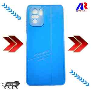 Redmi Note 10 / Note 10S Leather Back Cover Blue Colour For Xiaomi