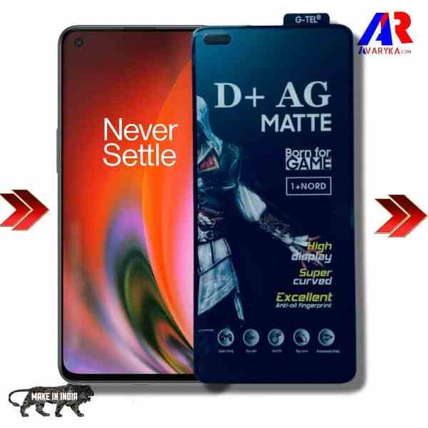 OnePlus Nord 2 Gaming Matte Tempered Glass With Camera Cut Out   Display Protection
