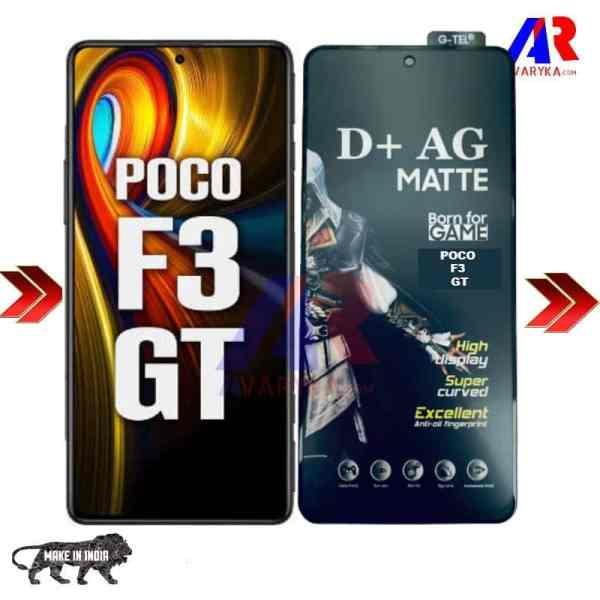 POCO F3 GT Gaming Matte Tempered Glass Made In India