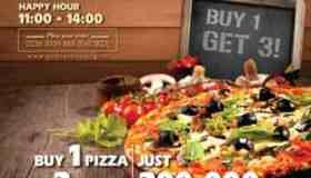 PIZZA PROMOTION - BUY 1 GET 3