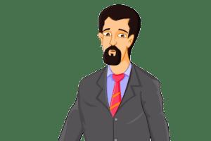 Hombre negocios barba