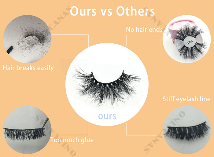 different quality eyelash comparison