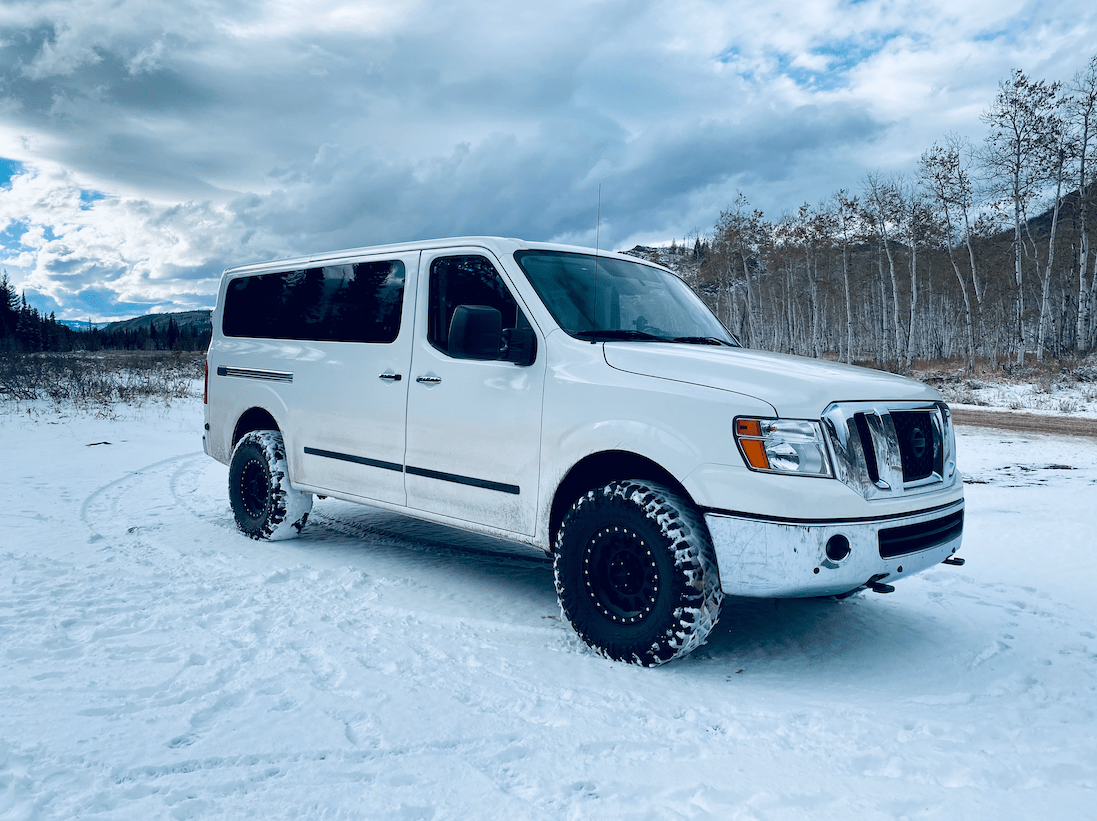 """2019 Nissan NV3500 lifted with 35"""" tires"""