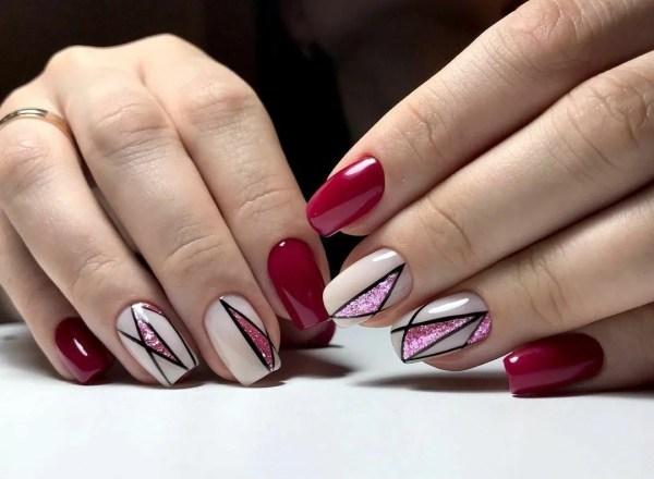 «Маникюр геометрия: 182 фото-новинки дизайна на ногтях ...