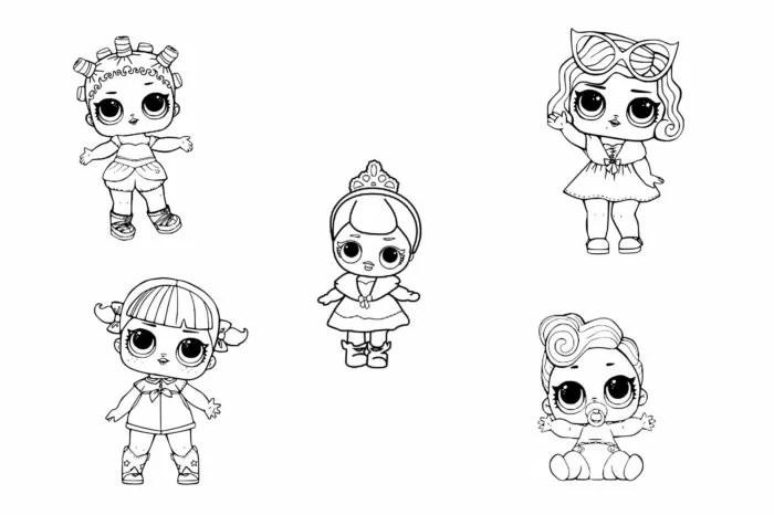 «Картинки кукол ЛОЛ для срисовки» — карточка пользователя ...