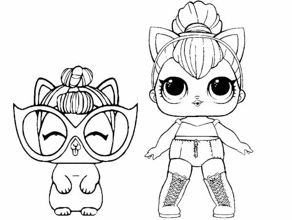 «Раскраски для девочек куклы лол (lol) распечатать ...