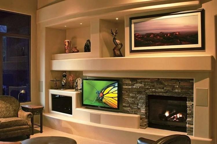 «Ниша из гипсокартона под телевизор - идеи дизайна ...
