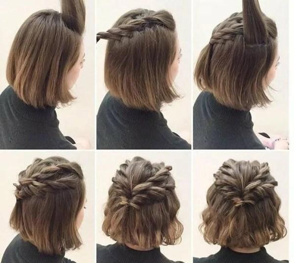 """""""Простые прически на короткие волосы (100 фото) - укладки ..."""
