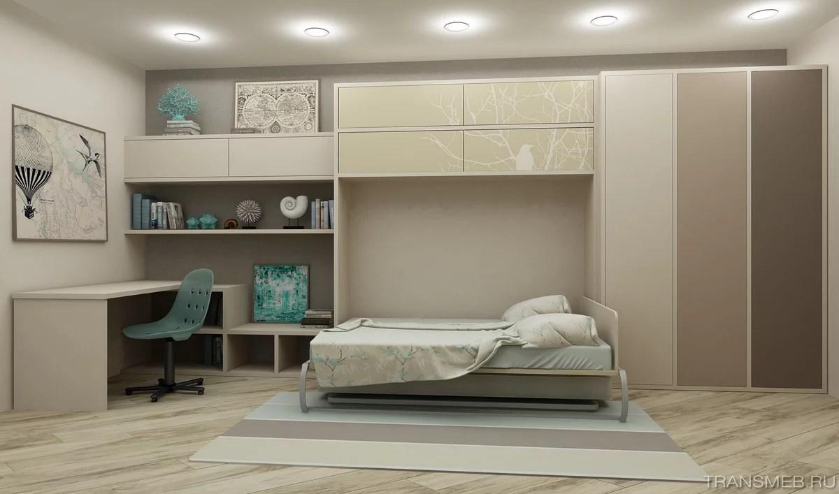 «Модель мебели-трансформера, в которой кровать встроена в ...