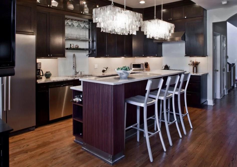 «Потолочные люстры для кухни в интерьере на фото ...