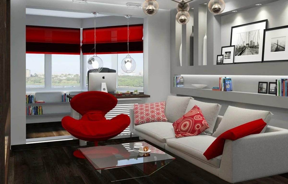 «Зал-лоджия фото: интерьер балкона в квартире, дизайн и ...