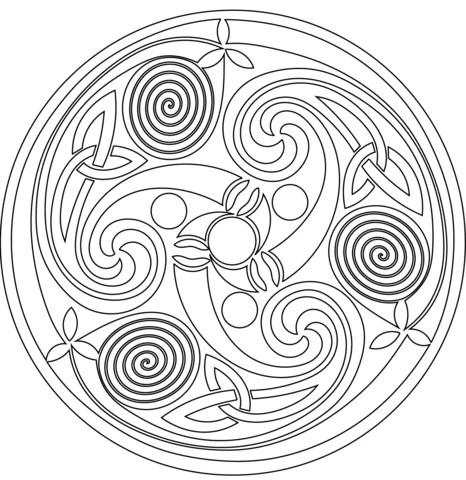 «Кельтская спираль, раскраска антистресс.» — карточка ...