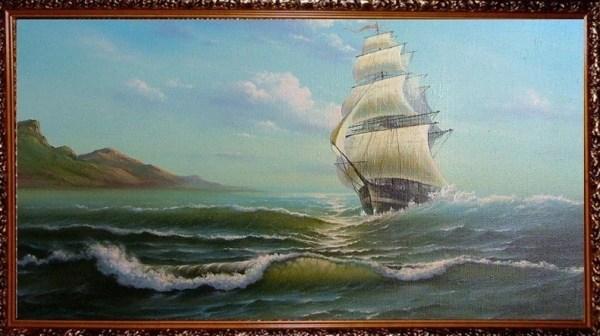 «Парусник Только очень глубокое холодное море может быть ...