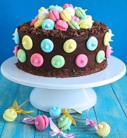 «Как украсить детский торт в домашних условиях,шоколадно ...