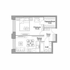 Продажа 2-комнатной квартиры 41,5 м² по адресу Москва ...
