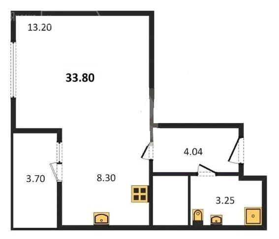 Продажа 1-комнатной квартиры 34,1 м² по адресу Казань ...