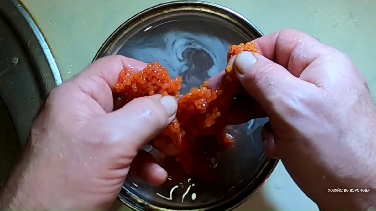 Disconnect the caviar to the parts and from the film