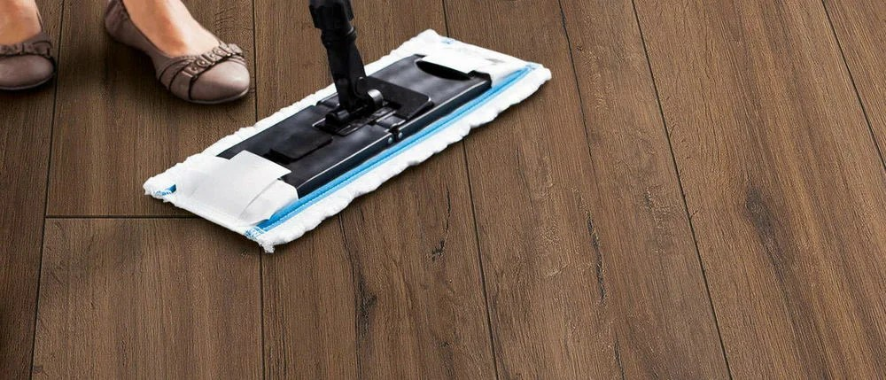 Cleaning laminate with decorative chamfer