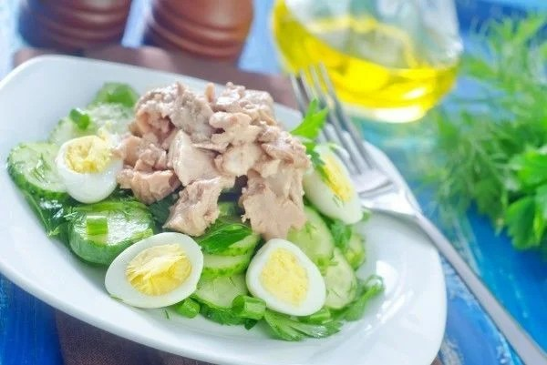 ✔Pop 10 salads with cod liver) very tender delicious with photos)