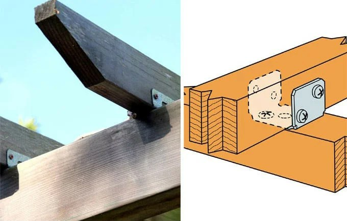 17.U-shaped fasteners for connecting runners and beams