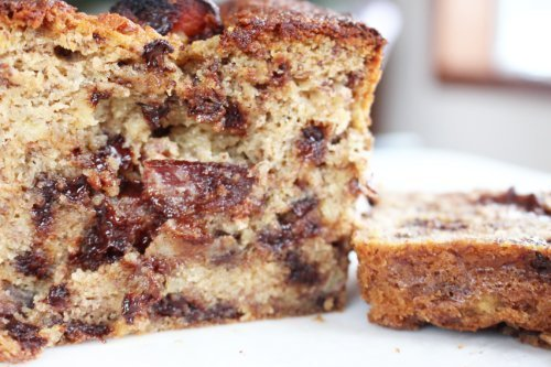 Easy to Bake Sweet & Spicy Bacon Chocolate Chip Banana Bread