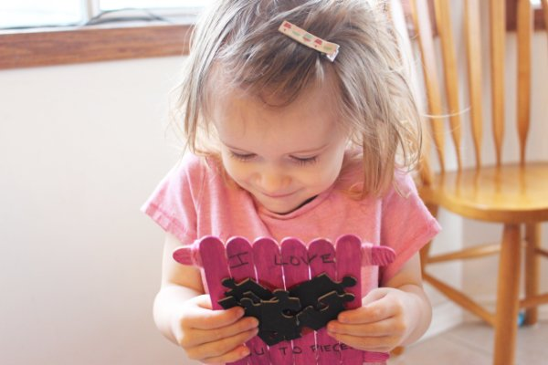I Love You To Pieces Easy Valentine's Day Kid's Craft