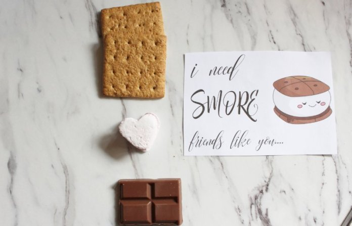 """Free Valentine's Printable Download """"I Need S'more Friends Like You"""" 2"""