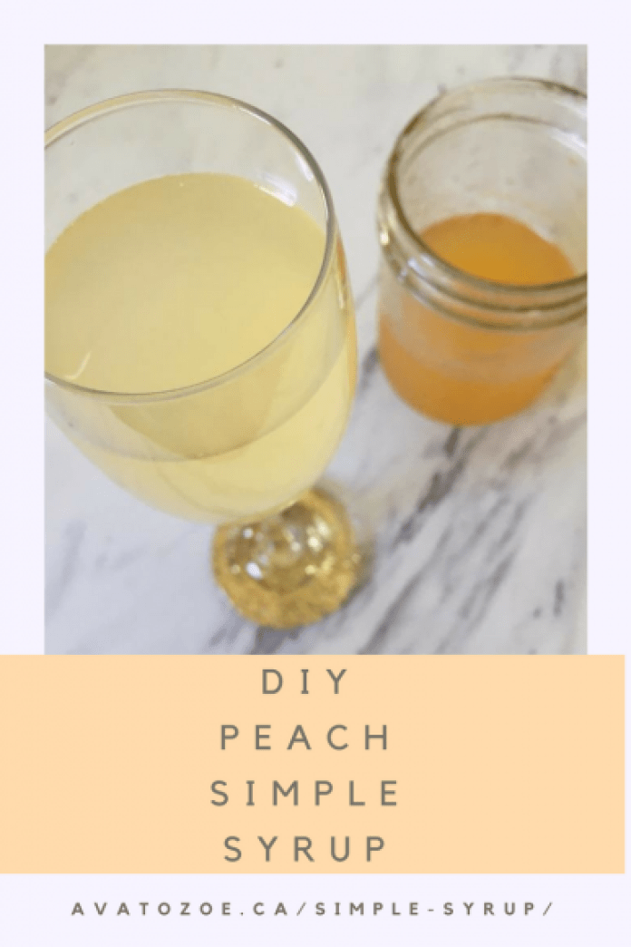 DIY Peach Simple Syrup