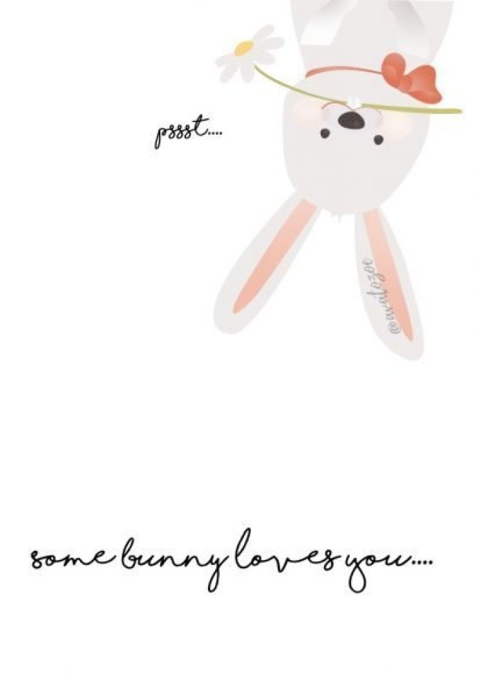 Some Bunny Loves You Easter Print