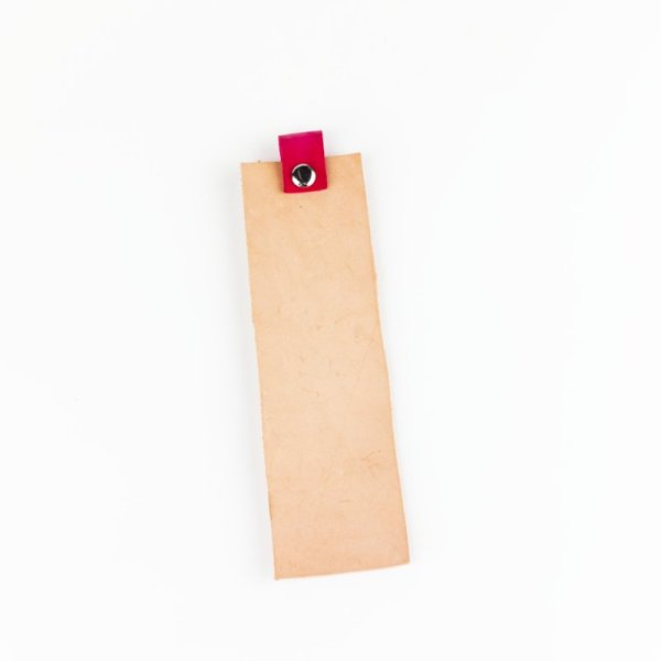 genuine leather bookmark