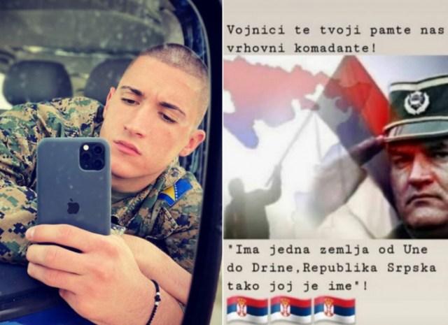 Instagram objava vojnika Nikole Lazarevića - Avaz, Dnevni avaz, avaz.ba