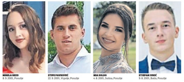 Mirela Rezo, Stipe Pavković, Mia Soldo i Stjepan Jukić