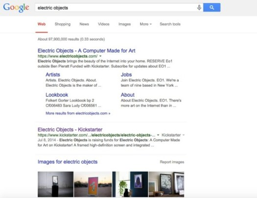 electric objects serp