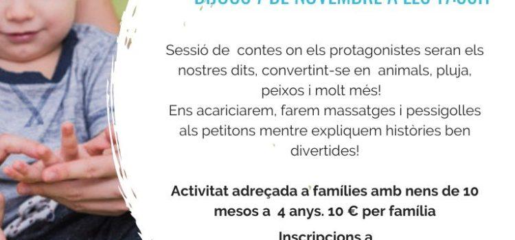 CONTES EXPLICATS AMB ELS DITS   ACTIVITAT EN FAMÍLIA
