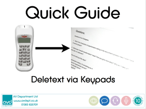 Quick Guide Deletext