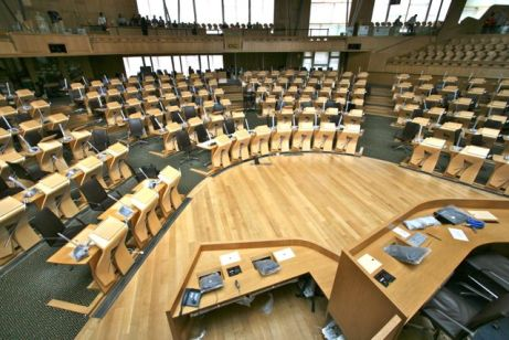An AVD system Sales Installation at the Scottish Parliament