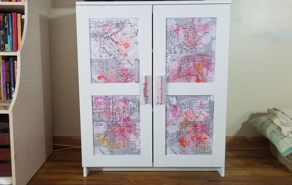 How To Decoupage Furniture With Maps A V Does What