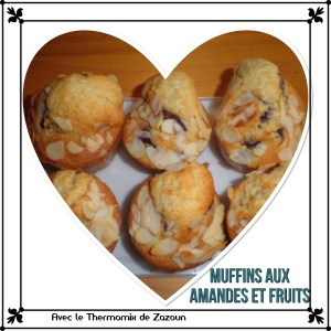 muffins aux amandes et cerises ou autres petits fruits au thermomix avec le thermomix et le. Black Bedroom Furniture Sets. Home Design Ideas