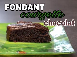 Fondant au chocolat courgettes sans beurre (ni gluten ) au Thermomix ou autre robot