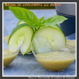 Soupe froide de concombre au melon