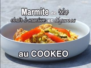 marmite de riz, chair à saucisses et petits légumes au cookeo (sans gluten ni lait)