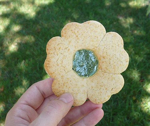 fleur biscuit vitrail bonbon