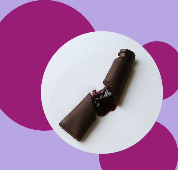 tube peinture chocolat confiture