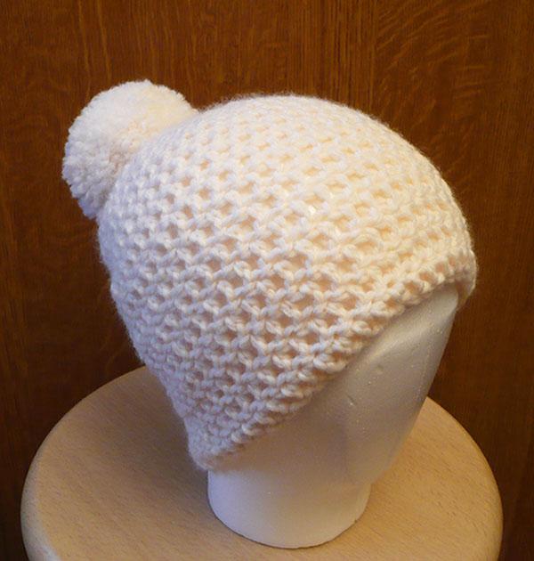 bonnet pompon femme crochet diy 2