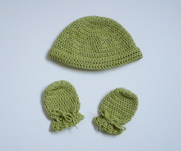 moufles bonnet bébé